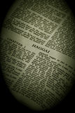 Bible Series Haggai sepia Royalty Free Stock Image