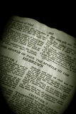 Bible Series Hebrews sepia Royalty Free Stock Photography