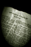 Bible Series Titus sepia Stock Photo