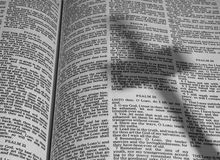 Bible with Shadow of a Cross Stock Photography