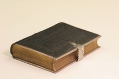 Bible with silver clasp. Old Enlish Bible with silver clasp Stock Image