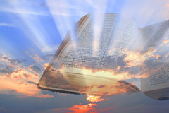 Bible spiritual light rays Stock Image