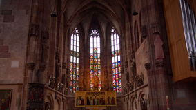 Bible stories in the Church in Germany stock footage