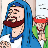 Bible stories - The Pharisee and the Tax Collector Royalty Free Stock Photography