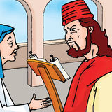 Bible story - The Parable of the Persistent Widow Royalty Free Stock Photo