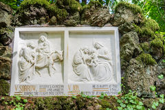 Bible story on stone tablet Royalty Free Stock Photo