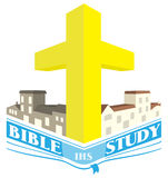 Bible Study Community Groups Logo Illustration Royalty Free Stock Images