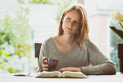Bible Study at Home Stock Images