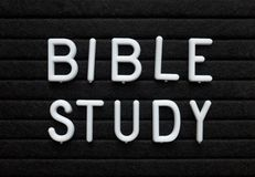 Bible Study Reminder on a Message Board stock photos