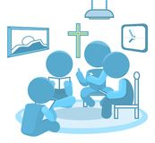 Bible Study Small Groups Christianity Illustration stock photography