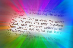 Bible text -  God so loved the world - John 3:16 Royalty Free Stock Images