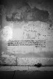 Bible text graffiti royalty free stock photography