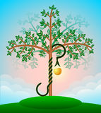 Bible tree of knowledge Stock Image