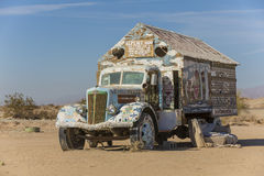 Bible Truck Outsider Art Installation Stock Photo