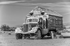 Bible Truck Outsider Art Installation in Monotone Stock Image