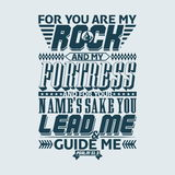 Bible typographic. For you are my rock and my fortress; and for your name's sake you lead me and guide me. Psalm. Royalty Free Stock Photos