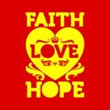 Bible typographique Amour d'espoir de Faih illustration libre de droits