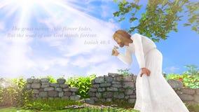 Bible Verse of Isaiah 40:8 stock photos