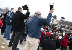 Bible-waving evangelists Stock Images
