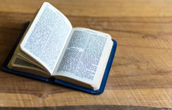 Bible on the wooden table Royalty Free Stock Photo