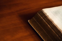 Bible on wooden table. Bible on a wooden table Stock Photos