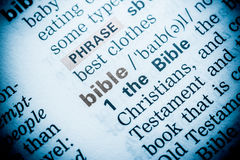 Bible Word Definition Royalty Free Stock Image