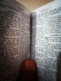 Bible words stock photography