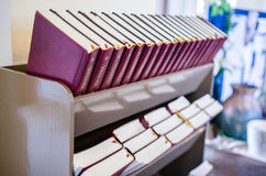 Bibles in Alexander Church Royalty Free Stock Image