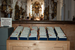 Bibles in romantic church Stock Photography