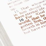 Biblia cristiana. Imagenes de archivo
