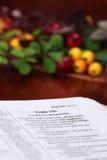 Biblia de la acción de gracias Imagen de archivo libre de regalías