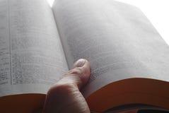 Biblia de la lectura Imagen de archivo