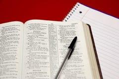 biblia de la lectura foto de archivo