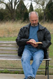Biblia de la lectura del hombre Fotografía de archivo