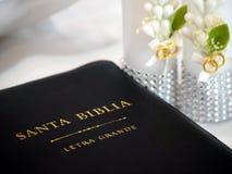 Biblia di Santa della La Immagini Stock