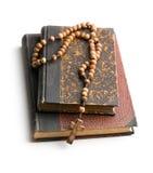 Biblia i różana święci koraliki Obraz Royalty Free