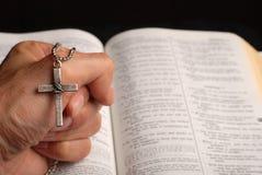 biblia krzyż Obraz Royalty Free