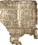 biblia manuskrypt Obraz Royalty Free