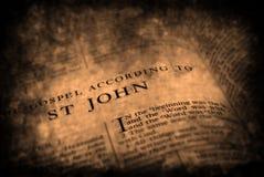 Biblia nowego testamentu St. John obraz royalty free