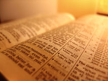 biblia otwarta Obraz Royalty Free