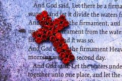 Biblia vieja Imagen de archivo libre de regalías