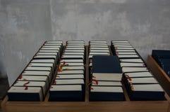 Biblias en iglesia Foto de archivo libre de regalías