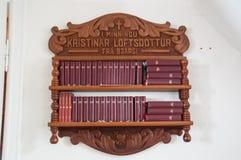 Biblias en iglesia Imágenes de archivo libres de regalías