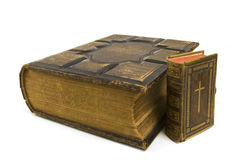 Biblias grandes y pequeñas Foto de archivo