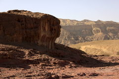 The biblical crater and valley of Timna in the south of Israel Royalty Free Stock Photos