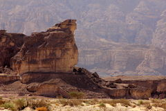 The biblical crater and valley of Timna in the south of Israel Royalty Free Stock Photography