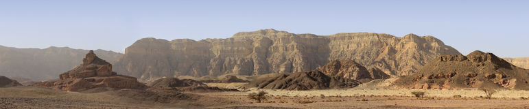 The biblical crater and valley of Timna in the south of Israel Stock Image