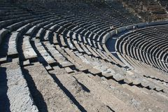 Biblical Ephesus Stadium. This is the large stadium in Ephesus where people rioted in anger to the message of St. Paul see Acts 19:23-41. This Roman arena was royalty free stock images