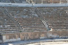Biblical Ephesus Stadium. This is the large stadium in Ephesus where people rioted in anger to the message of St. Paul see Acts 19:23-41. This Roman arena was stock photography