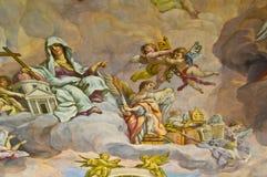 Biblical fresco. Detail of the biblical fresco of the Karlskirche in Vienna Stock Photo